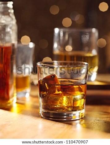 Highball Whiskey Glass At Bar Stock Photo 110470907 : Shutterstock