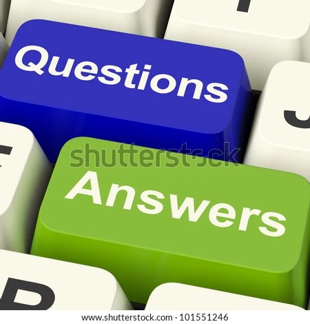 stock photo : Questions And Answers Computer Keys Showing Support Knowledge And Wiki