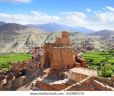 Beautiful Scenic View Of Ancient Fortress And Buddhist ...