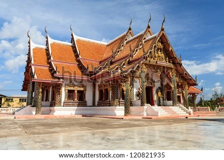 Wat Pratat Choeng Chum - stock photo