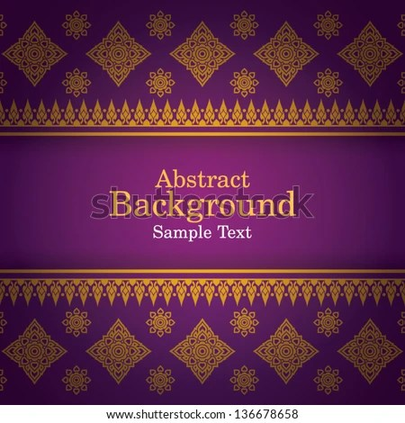 Thai Art Background, Thai art pattern vector. - stock vector