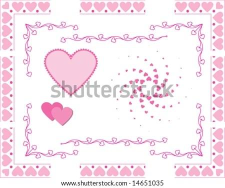 Download Love Heart Border, Frame, Corner, Center Designs Stock ...
