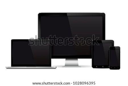 Tablet Device Mockup Design Vector Download Free Vector Art Stock