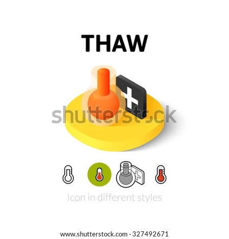 Vector Images Illustrations And Cliparts Thaw Icon Vector Symbol In Flat Outline And