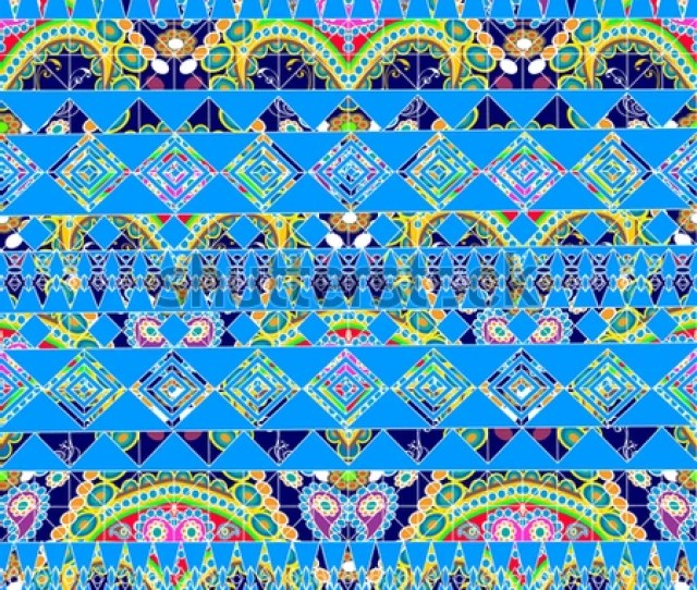 Modern Geometric Vector Seamless Border Pattern Abstract Tribal Geometrical Colorful Background Wallpaper Ethnic Decorative