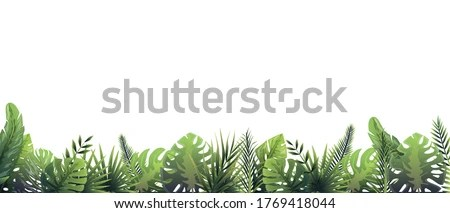 Hand drawn woodland trees, herbs, mushrooms, flowers, branches, berries, leaves. Garden Bamboo Forest Plant Green Leaves Branches Forest Border Clipart Stunning Free Transparent Png Clipart Images Free Download
