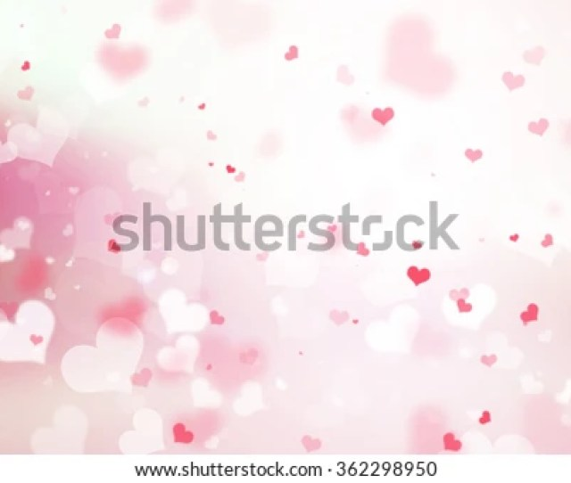 Abstract Blur Background Pink Pastel Heart Love Bokeh Valentines Day Happy Concept White Sparkling
