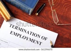 Notice of employment termination