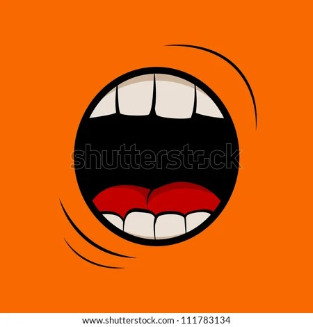 Vector Illustration With Screaming Mouth 111783134