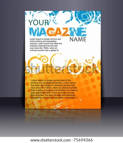 stock vector : Magazine layout design template. Vector Illustration