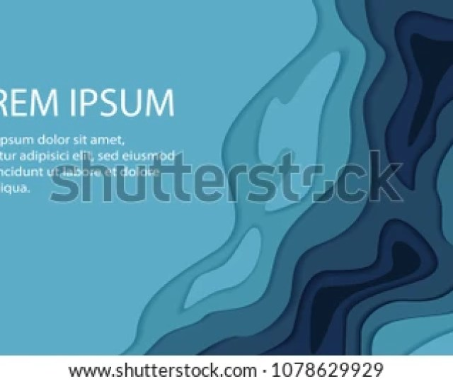 Papercut Multi Layers D Color Texture Vector Background Abstract Topography Concept Design Or Flowing Liquid