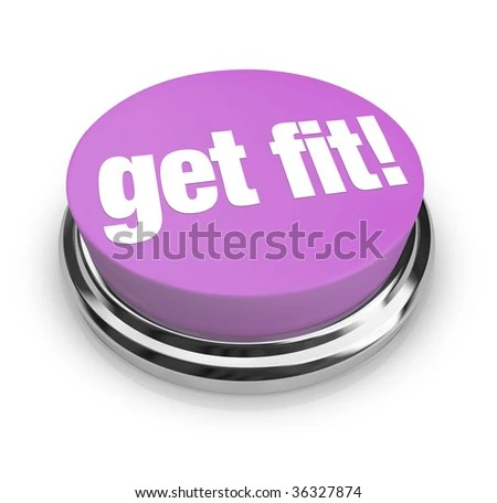 stock photo : A purple button with the words Get Fit on it