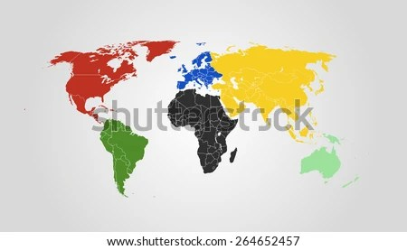 Map of 7 continents of the world online interactive map wallpapers world continents map vector download free vector art stock vector world map symbolic colors for every gumiabroncs Choice Image