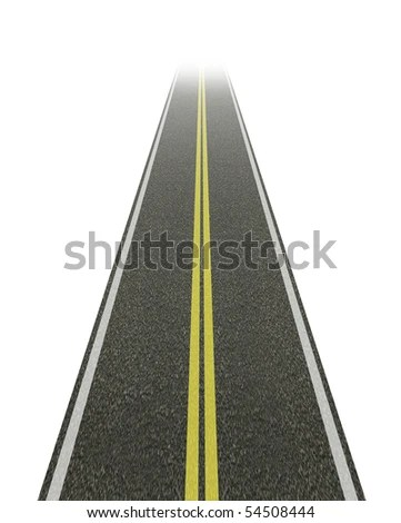 Straight Road Disappearing Into The Distance. Stock Photo ...