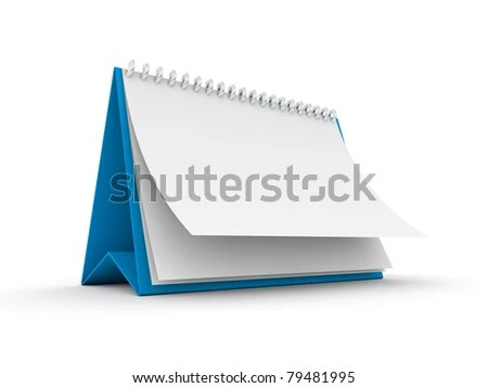 stock photo : Blank paper calendar 3d render
