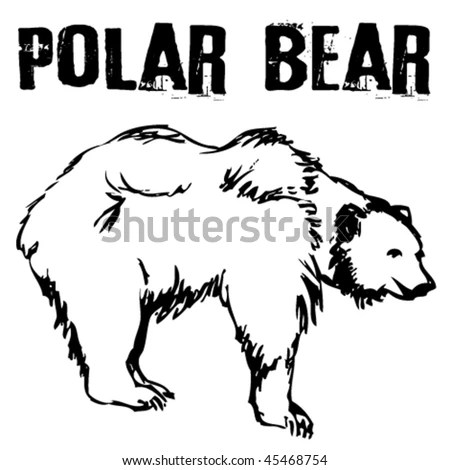 vector illustration tattoo polar