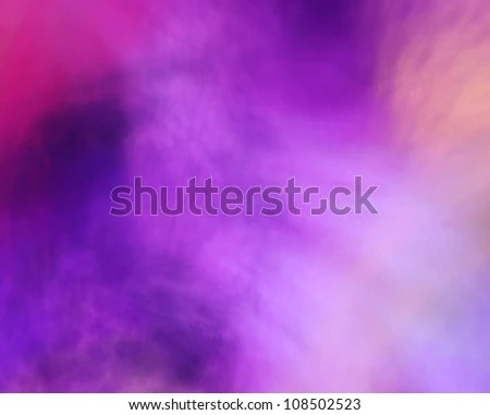an abstract fractal background of colorful clouds - stock photo