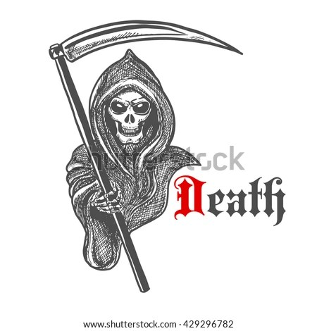 Death Skeleton With Scythe Vector Download Free Vector Art Free Vectors