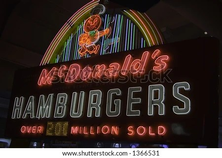 stock photo : McDonald's HAMBURGERS vintage advertisement