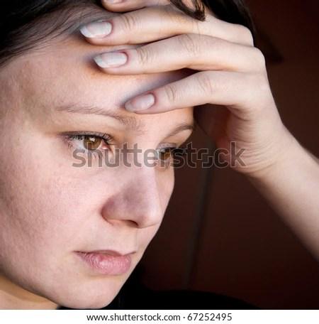 Woman Depressed - stock photo