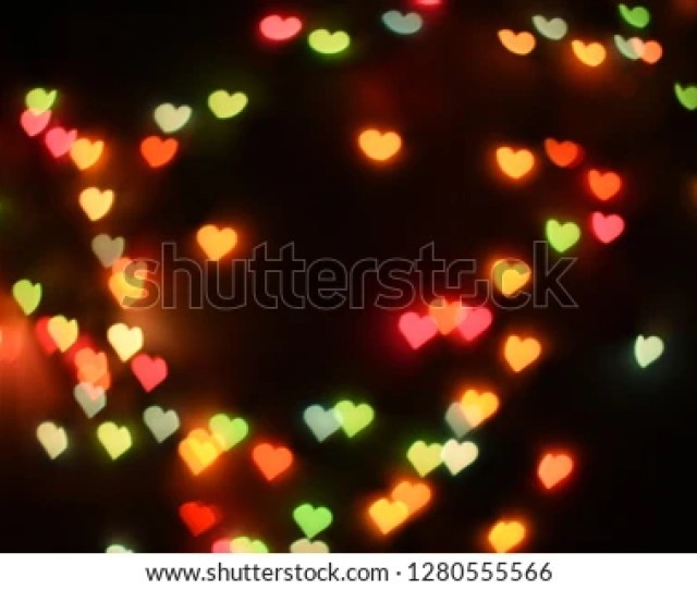 Some Defocused Heart Bokeh Background And Wallpaper Valentines Day Concept 1280555566