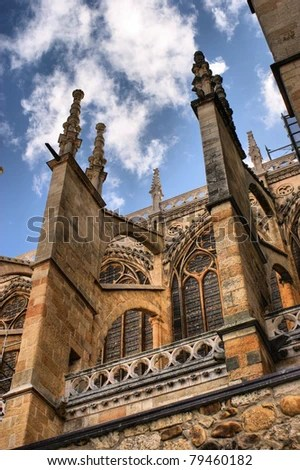 Buttresses of the Leon cathedral