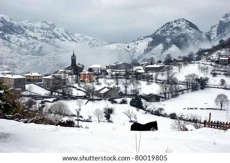 Alles, a small village of Penamellera Alta, Asturias