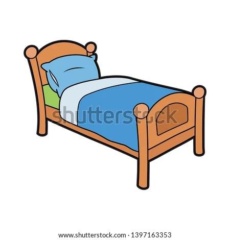 cartoon bed drawing at getdrawings