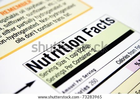 stock photo : Nutrition facts