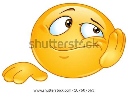 Bored emoticon - stock vector