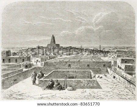 stock photo : Timbuktu, old view. Created by Lancelot after Barth, published on Le Tour du Monde, Paris, 1860