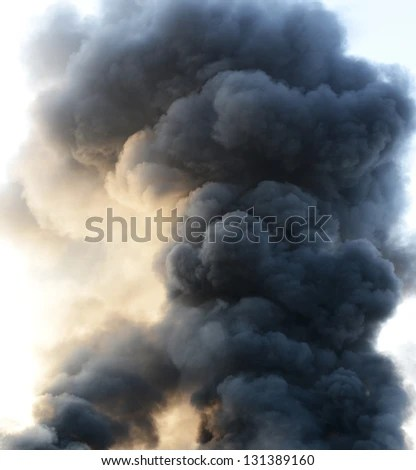 Thick Dark Smoke In A Fire. Stock Photo 131389160 : Shutterstock