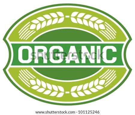 stock vector : organic label (organic seal, organic symbol, organic badge, organic sign)