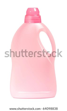 stock vector : Plastic detergent bottle, isolated on white background. Vector illustration