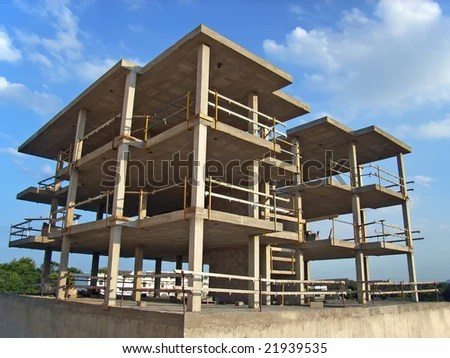 Concrete Structure Of A New Block Of Flats Stock Photo ...
