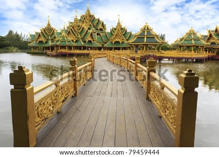 Enlightened City Hall is located in the ancient province of Samut Prakan. - stock photo