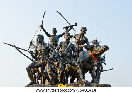Bangrajun monument at Singburi province, Thailand. - stock photo