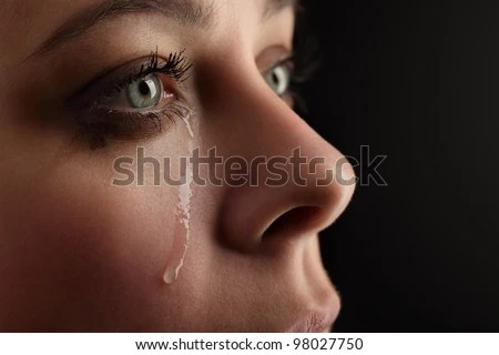 beauty girl cry - stock photo