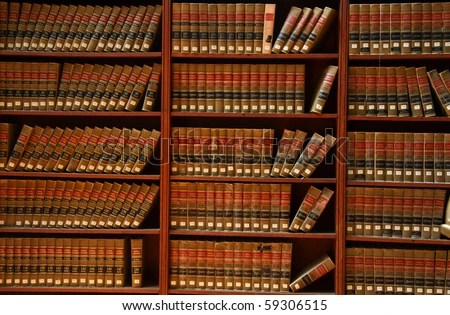 Law book library - stock photo