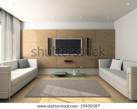 stock photo modern design interior of living room d render 19430587 Living Room D