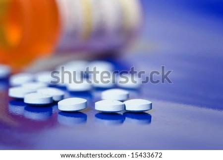 stock photo : Bottle of pills