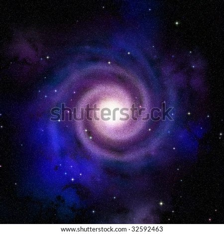 Spiral Galaxy Top View Hypothetical Presentation Of Our