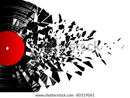 Vinyl shatter - stock photo