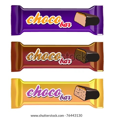 stock vector : vector set of three chocolate bar packages templates