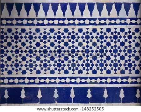 moroccan tile pattern in a riad fes morocco stock images page everypixel