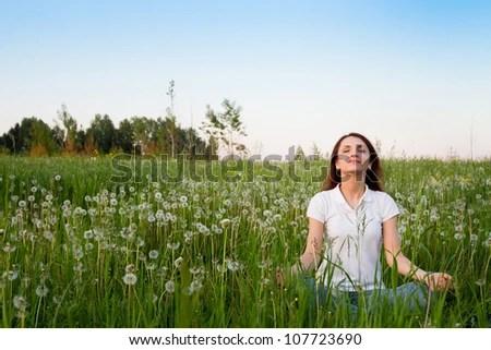 meditation - stock photo