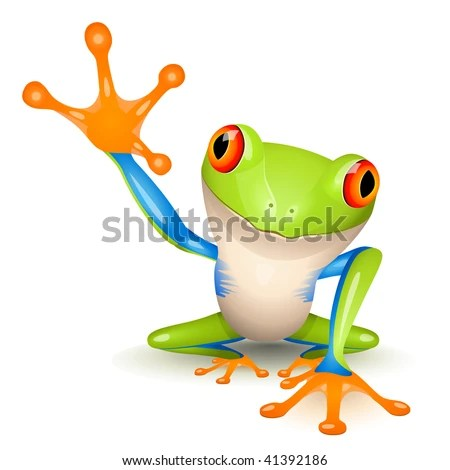 Little tree frog - stock vector