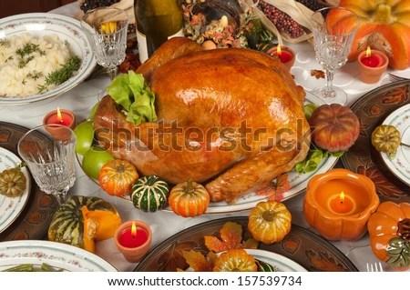 Thanksgiving turkey - stock photo