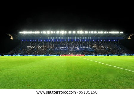 BURIRAM THAILAND-SEP21:I-Moile Stadium during Toyota League Cup match between Buriram PEA(B) and Chonburi Fc(G) at I-mobile Stadium on September21, 2011 Buriram Thailand - stock photo