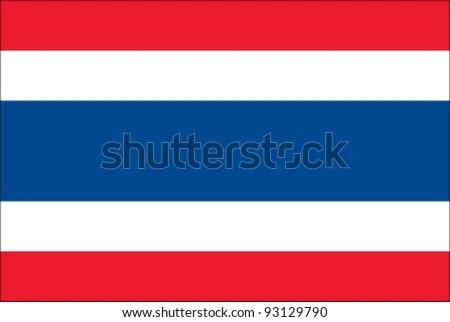 Thailand Flag - stock vector